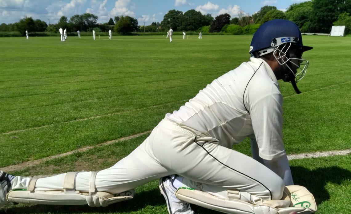Stretching before batting